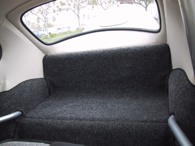 Rear Seat Removed And Nicely Fit Carpet Installed