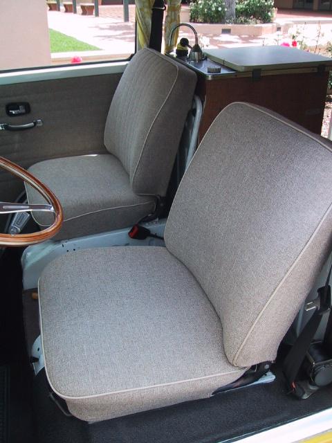 Seat Upholstery Is Very Nice Tweed Material