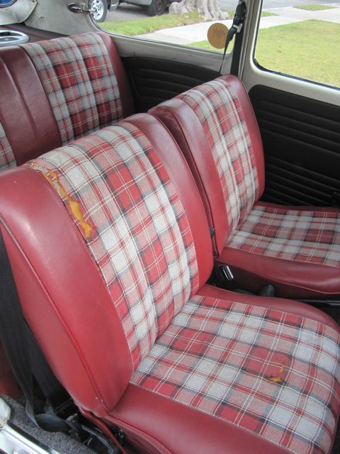 The Interior Is Pretty Cool In Red With Plaidbut Cloth Material Inserts Deteriorating You Can See How It Splitting On Passenger