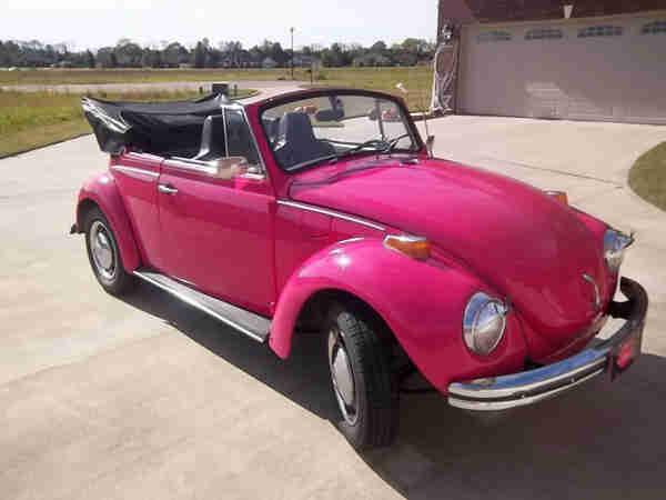1971 hot pink super beetle convertible for sale. Black Bedroom Furniture Sets. Home Design Ideas