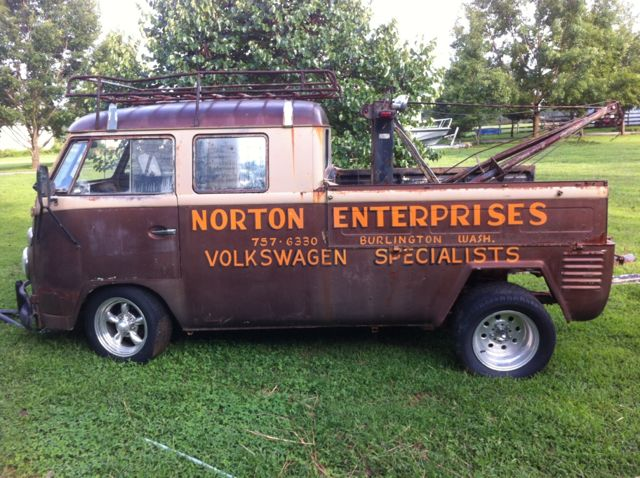 1963 twin engine vw double cab tow truck for sale. Black Bedroom Furniture Sets. Home Design Ideas